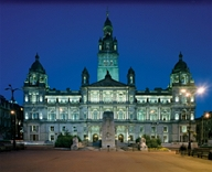 City Chambers at night