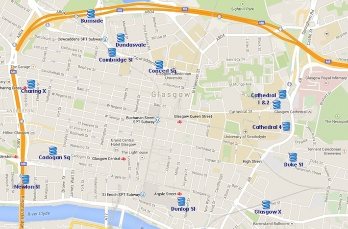 Map Of All Car Parks